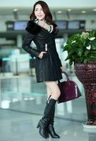 Buy cheap Ladies Winter Long Section of PU Leather Coat Item ID: 62086 from wholesalers
