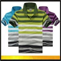 Buy cheap Polo shirts Men's stripe cotton polo tshirt from wholesalers