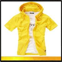 Buy cheap Blank sweatshirts Short sleeve blank zipper sweartshirt with hoodie from wholesalers