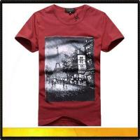 Buy cheap Custom round neck printed t-shirts for men from wholesalers