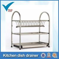 Buy cheap 3 tier stainless steel kitchen dish drainer from wholesalers