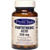 Buy cheap Vitamin Source Pantothenic Acid B5 500mg 60 Veg Tablets from wholesalers