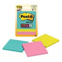 Buy cheap Post-it Super Sticky Notes, 3 in. x 3 in., Miami Collection, 3 Pads/Pack, 45 Sheets/Pad from wholesalers