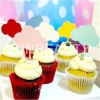 Buy cheap 30pcs Mixed Colors Cloud Shape CupCake Toppers from wholesalers