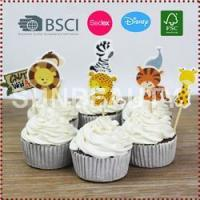 Buy cheap 24pcs Animal Theme Cupcake Toppers from wholesalers