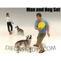 Buy cheap AMERICAN DIORAMA-AD-23889 - SITTING 2 PIECE FIGURE 1/18 MAN AND DOG from wholesalers