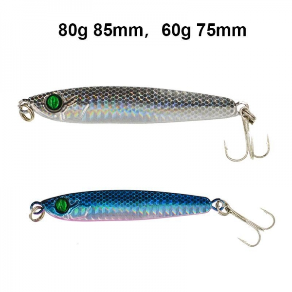Micro jigs lead fishing lures 60g 80g of romancefishing for Micro fishing lures
