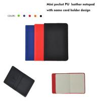 Buy cheap Mini pocket PU leather smart notepad with name card holder from wholesalers