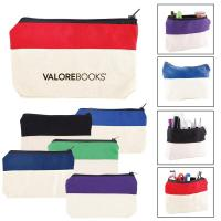 Buy cheap Two-Tone Zip Cotton Valuables/School Supplies Pouch from wholesalers