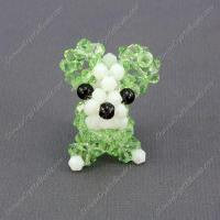 Buy cheap Crystal 3D beading Papillon puppy dog Charm Kit , 35x30mm, lime green from wholesalers