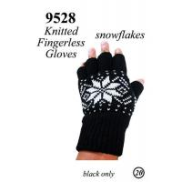 Buy cheap Knit Fingerless Gloves Snow Flakes Pattern G9528 from wholesalers