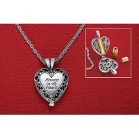 Buy cheap Brass Urn Enclosed in Heart Locket Necklace from wholesalers