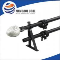 Buy cheap Black Color Double Adjustable Curtain Rods from wholesalers