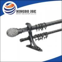 Buy cheap new resin curtain finial twist double curtain poles from wholesalers