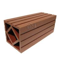 Buy cheap 120H120 WPC Fencing Railing Square Column from wholesalers
