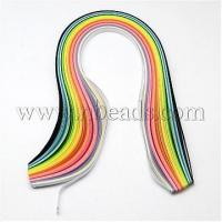 "Buy cheap 150Strips Mixed Colors 5MM Wide Quilling Paper Strips, 15"" l...(DIY-R025-05) product"