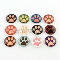 Buy cheap Half Round/Dome Dog Paw Print Photo Glass Flatback Cabochons...(X-GGLA-Q037-22mm-08) from wholesalers