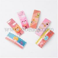 Buy cheap Cute Hair Accessories Printed Resin Iron Snap Hair Clips for...(PHAR-M011-M) from wholesalers