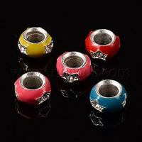 Buy cheap Mixed Rondelle Shape Alloy European Rhinestone Beads, with E...(X-ENAM-13D-M) from wholesalers