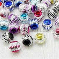 Buy cheap Mixed Color Lantern Aluminium Round Beads Fit Charm Bracelet...(X-ALUM-AR10mm) from wholesalers