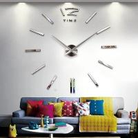 Buy cheap Modern design DIY large wall clock 3D mirror surface from wholesalers