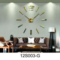 Buy cheap Removable 3D DIY sticker wall clock for home from wholesalers