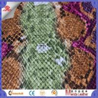 Buy cheap Camouflage snake skin design faux leather fabric for shoes in China product from wholesalers