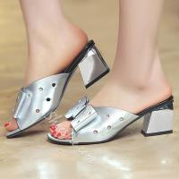 Buy cheap Shoespie Sliver Hollow Bowtie Mule Shoes from wholesalers
