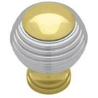 Buy cheap Solid Brass Mid Century Modern Bands of Chrome Brass Knob 29mm L-P50305V-PLC-C7 from wholesalers