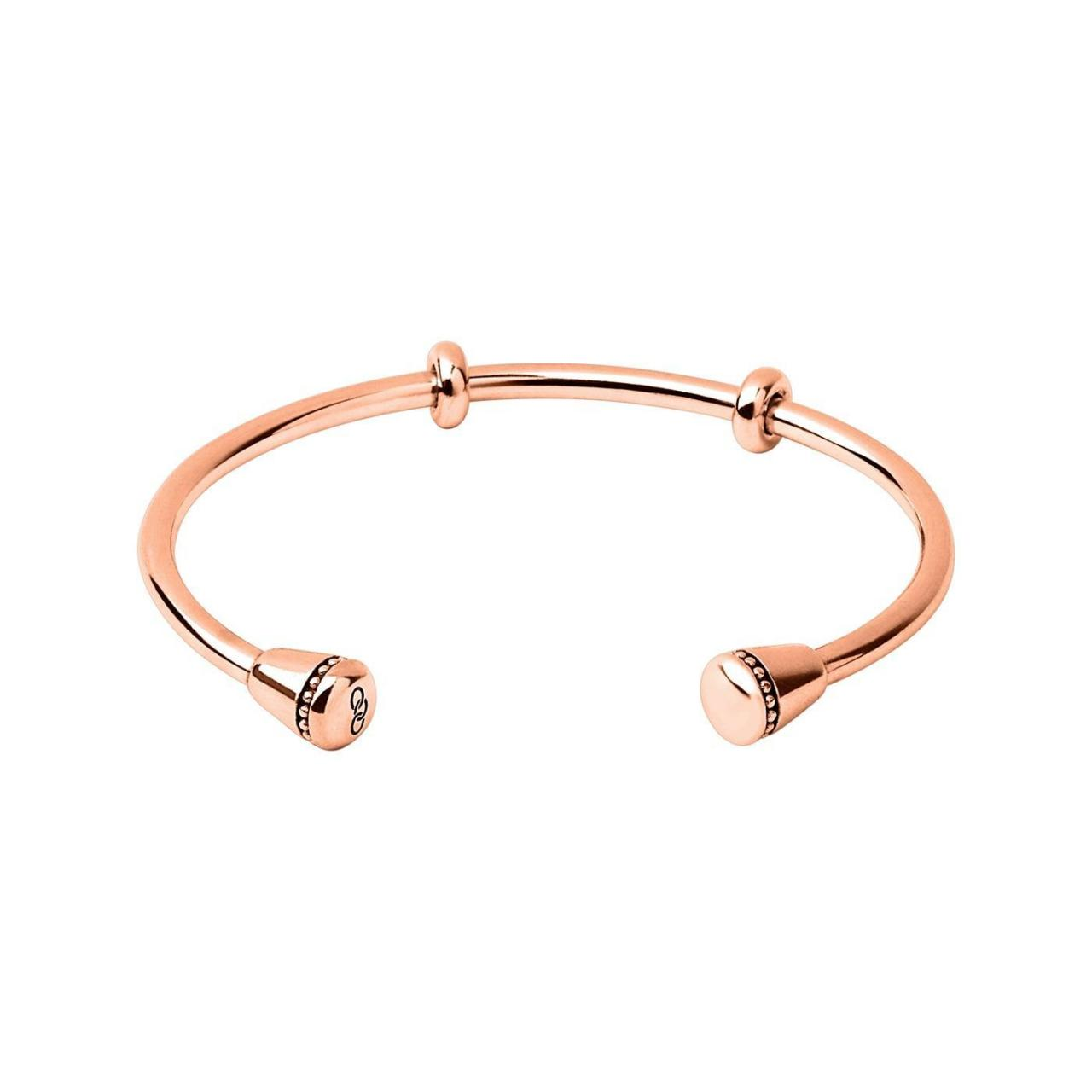 China WOMEN Narrative 18kt Rose Gold Vermeil Charm Cuff on sale