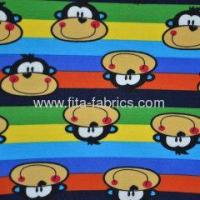 Buy cheap Polyester/Cotton spun Plush velour/printed knitting fabric from wholesalers