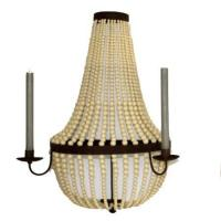 Buy cheap Creme Bead Wall Sconce - Large from wholesalers