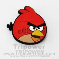 Buy cheap angry bird Custom Shape Rubber USB Drive from wholesalers