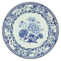 Buy cheap Entertaining with Caspari Dinner Plates, Blue and White, 8-Pack from wholesalers