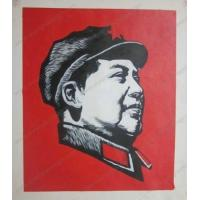 Buy cheap modern chinese Mao canvas art painting oils from wholesalers