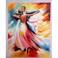 Buy cheap Sample Paintings dancing people impressionism oil painting from wholesalers