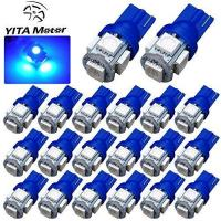 Buy cheap YITAMOTOR 20 PCS T10 Wedge 5-SMD 5050 Ultra Blue LED Light bulbs W5W 2825 158 192 168 194 from wholesalers