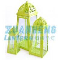 Buy cheap Moroccan metal lantern with green color product
