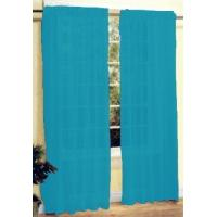 Buy cheap New 2 Pc Sheer Voile Window Curtain Panel Set Turquoise from wholesalers