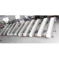 Food grade white incline conveyor