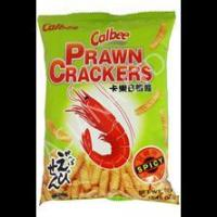 Buy cheap CALBEE PRAWN CRACKER SPICY FLAVOUR (70G) from wholesalers