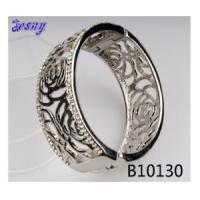 Buy cheap Fashion bangle antique silver bangle flower copper magnetic bracelet B10130 from wholesalers