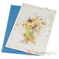 Buy cheap Handmade Dried Flower Greeting Card + Envelope + Letter Paper Christmas Gifts from wholesalers