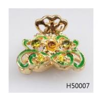 Buy cheap Rhinestone hairstyles flower turquoise for wedding hair accessories H50007 from wholesalers