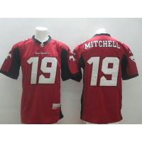Buy cheap Stampeders #19 Bo Levi Mitchell Red Stitched CFL Jersey from wholesalers