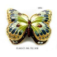Buy cheap Colorful Butterfly Metal Alloy Jewelry Box Butterfly Trinket Box from wholesalers