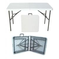 Buy cheap OUTDOOR FURNITURE 4FT folding in half table from wholesalers