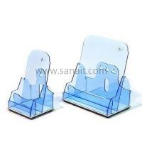 Buy cheap Light blue perspex brochure holder SBD-049 from wholesalers