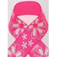 Buy cheap Bright Pink Glitter Printed Daisy Craft Ribbon from wholesalers