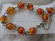 Buy cheap Amber Tibetan Silver Bracelet from wholesalers
